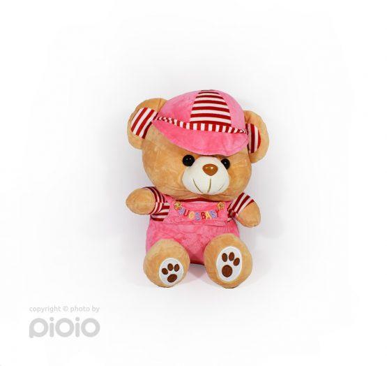 عروسک خرس مخملی لباس دار