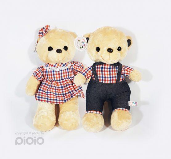 عروسک خرس قهوهای دختر و پسر