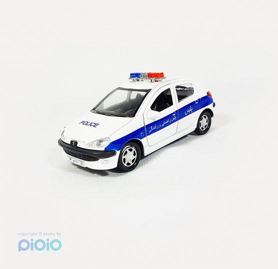 خرید ماشین فلزی پژو 206 پلیس راهنمایی