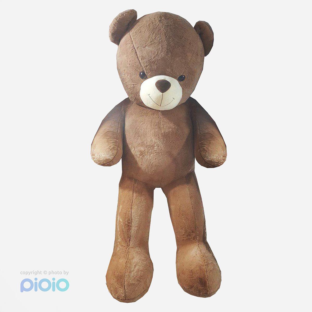 عروسک خرس دو متری بزرگ پولیشی خارجی رنگ قهوه ای روشن |
