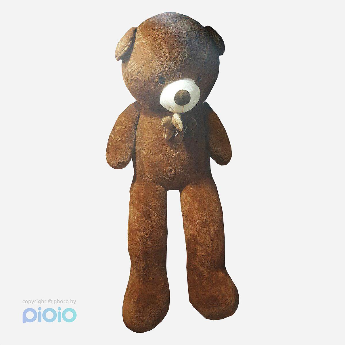 عروسک تدی خرس قهوه ای بزرگ ارتفاع ۲۰۰ سانتی متر |