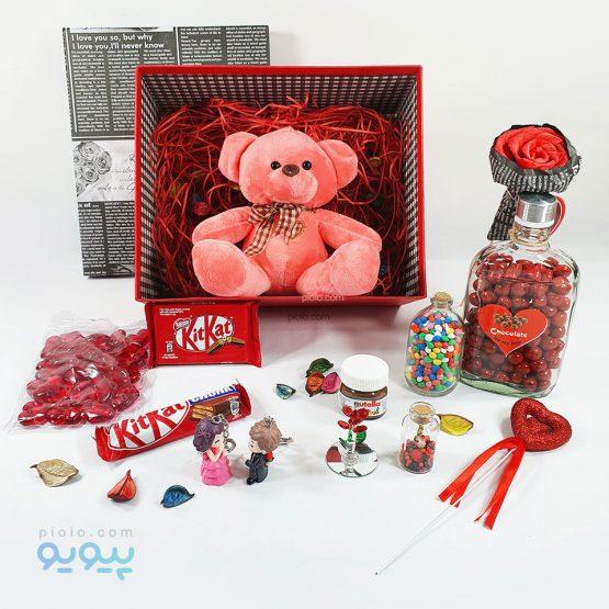 کادو روز ولنتاین با عروسک خرس ولنتاینی