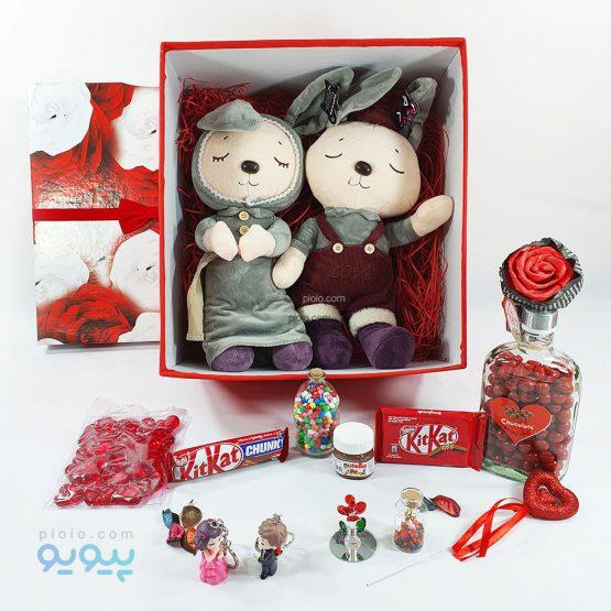 پکیج با عروسک خرگوش خانم و آقای کشاورز