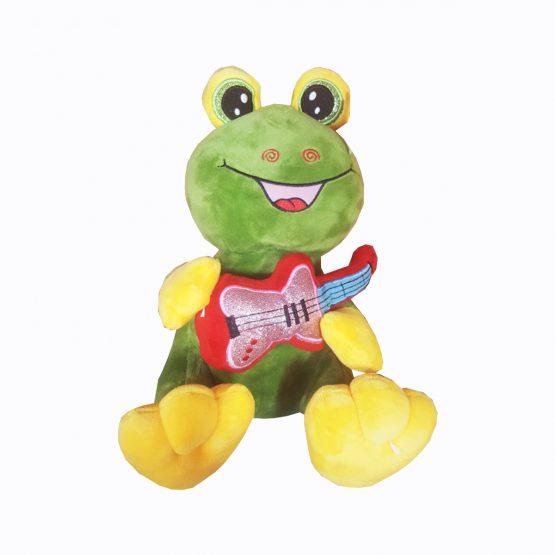 عروسک قورباغه گیتاریست