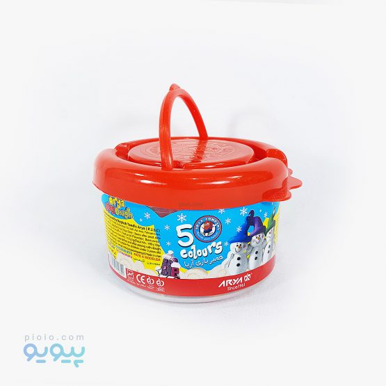 خمیر بازی 5 رنگ سطلی آریا