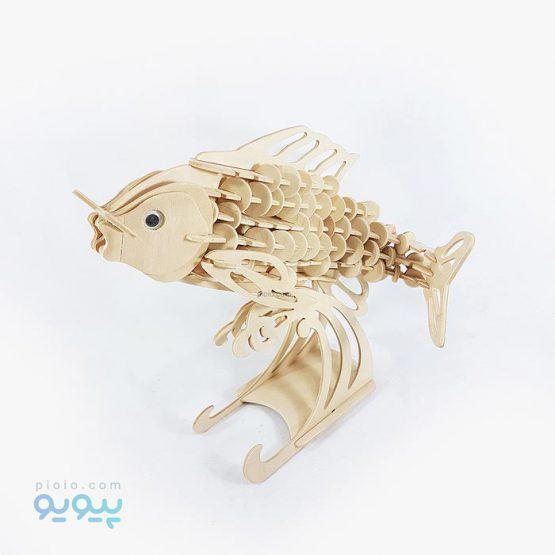 پازل سه بعدی چوبی طرح ماهی