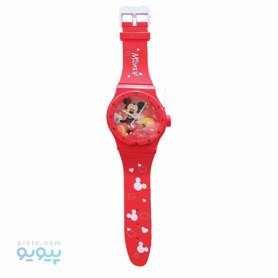 ساعت دیواری مدل میکی موس طرح ساعت مچی