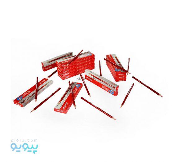 مداد قرمز آریا بسته 12 عددی کد 3002