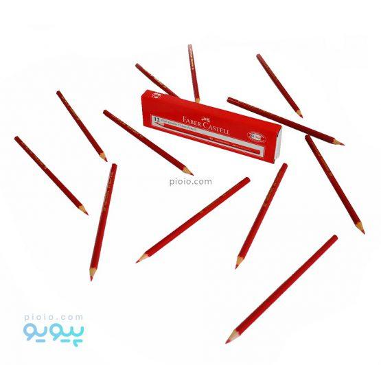 مداد قرمز فابر کاستل بسته 12 عددی