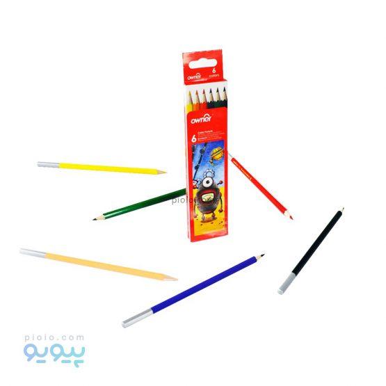 مداد رنگی 6 رنگ اونر