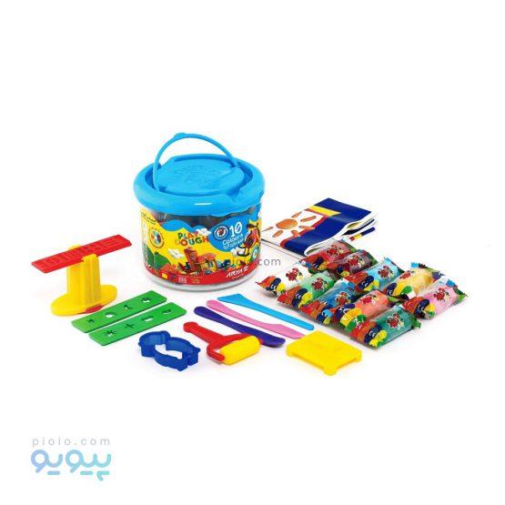 خمیر بازی 10 رنگ سطلی