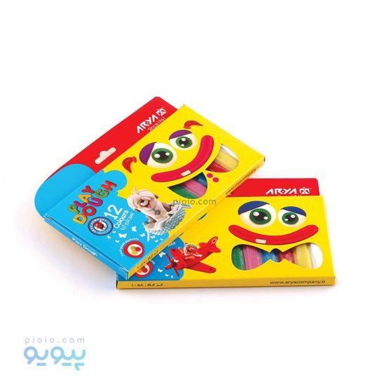 خمیر بازی 12 رنگ جعبه مقوایی