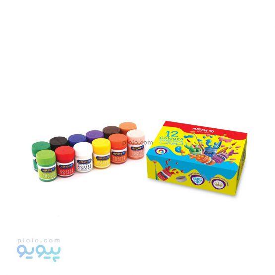 گواش 12 رنگ جعبه مقوایی