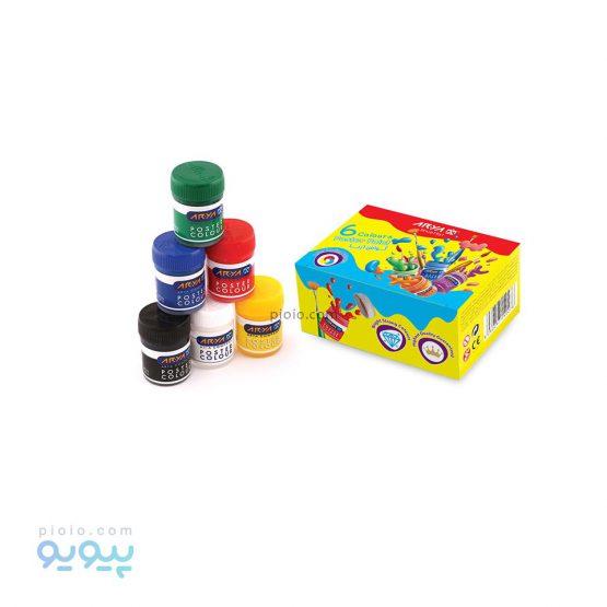 گواش 6 رنگ جعبه مقوایی