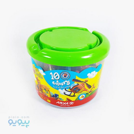 خمیر بازی سطلی 10 رنگ آریا
