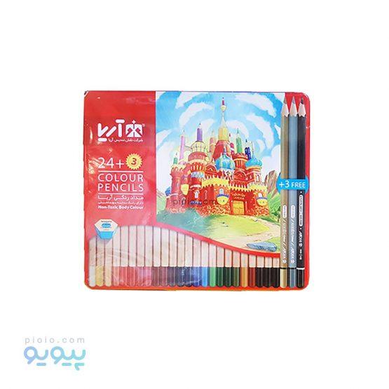 مداد رنگی 24 رنگ آریا مدل 3022