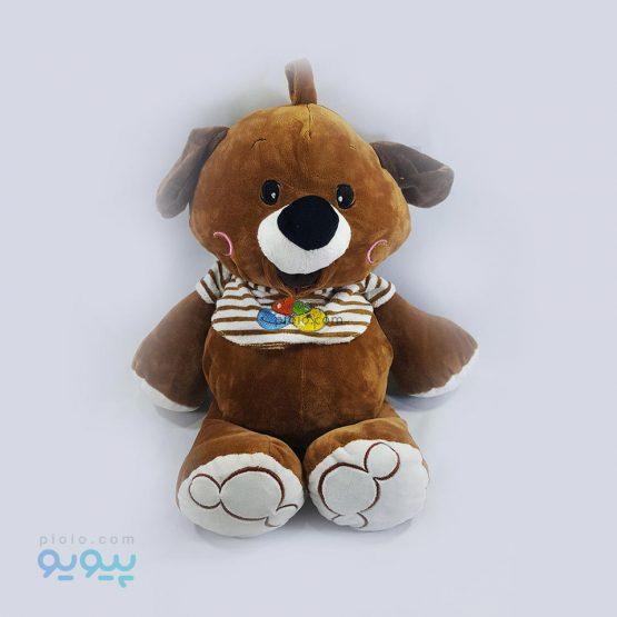 عروسک خرس قهوه ای کد 21