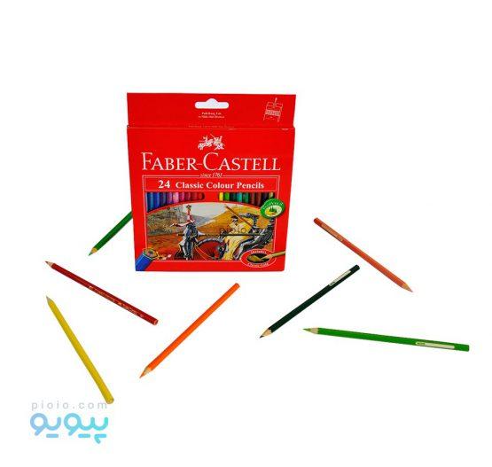 مداد رنگی 24 رنگ فابرکاستل