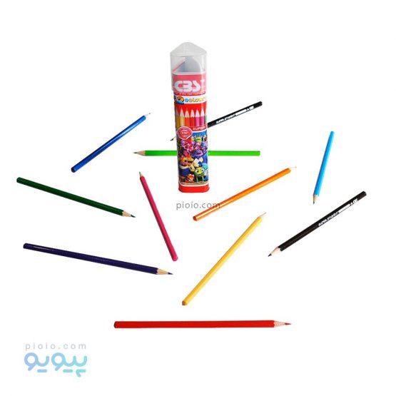 مداد رنگی 12 رنگ استوانه سی بی اس