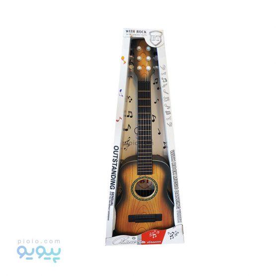 اسباب بازی گیتار کودک با رویه طرح چوب