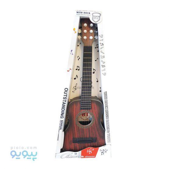 اسباب بازی گیتار کودک طرح چوب