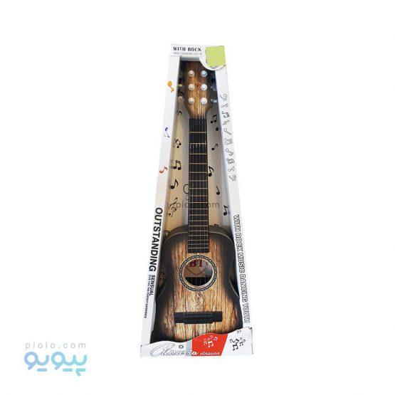اسباب بازی گیتار کودک طرح چوب رنگ روشن