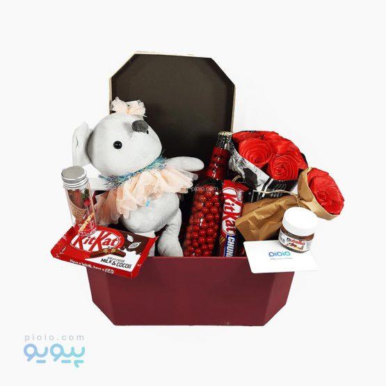 کادوی آماده ولنتاین با عروسک موش