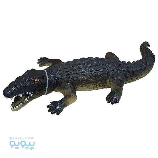 فیگور تمساح اسباب بازی پلاستیکی نرم سایز بزرگ