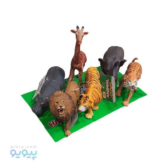 فیگور اسباب بازی حیوانات جنگل بسته 6 عددی