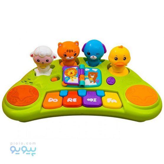 بازی آموزشی هولی تویز مدل Funny Animal Keyboard