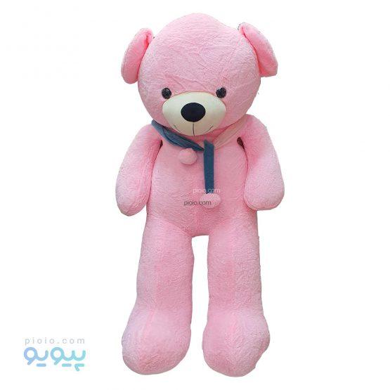 عروسک خرس بزرگ 170 سانتی متری شالگردن دار