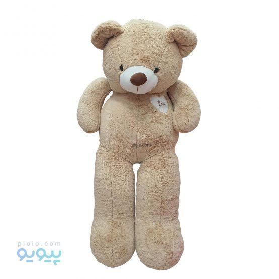 عروسک خرس بزرگ 150 سانتی متری رنگ قهوه ای