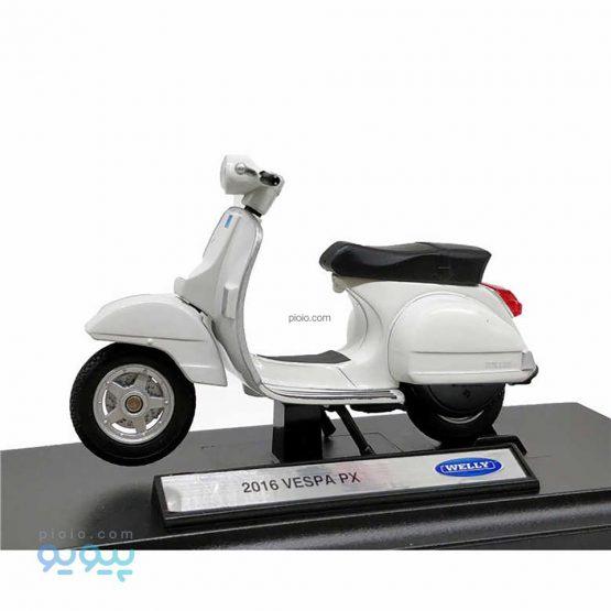 ماکت موتورسیکلت ویلی مدل Vespa PX 2016