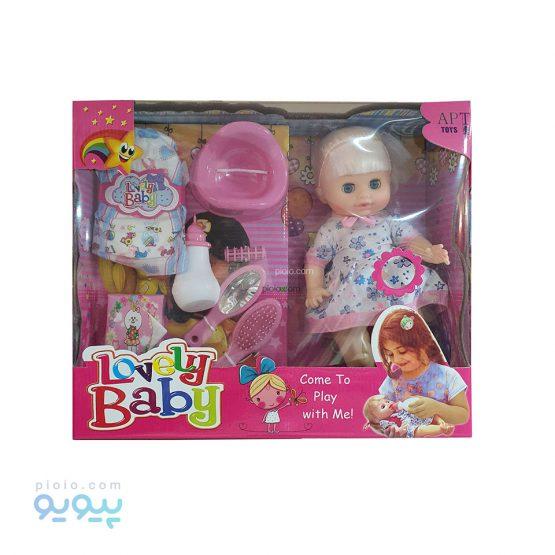 عروسک پوشکی Lovely Baby مدل موزیکال