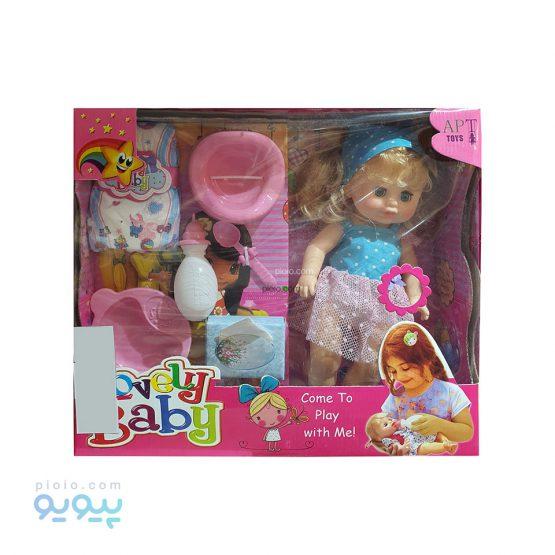 عروسک موزیکال پوشکی مدل Lovely Baby