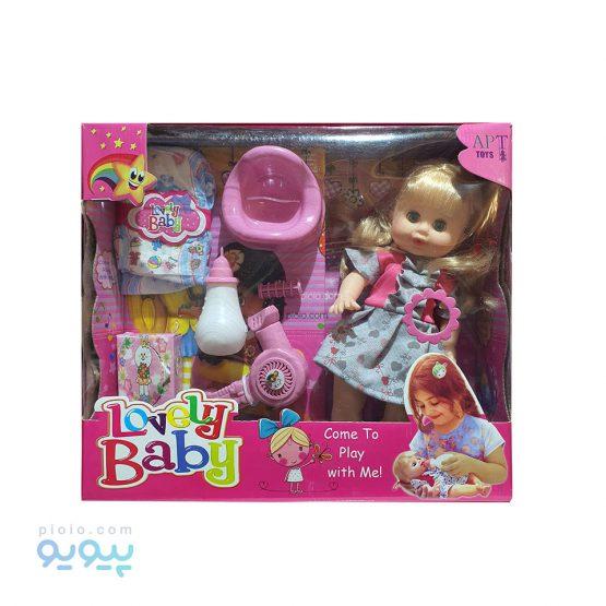 عروسک آوازخوان پوشکی Lovely Baby