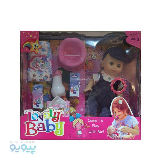 عروسک آوازخوان پوشکی مدل Lovely Baby