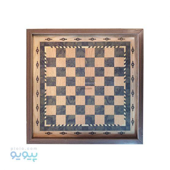 شطرنج چوبی به همراه صفحه دوز