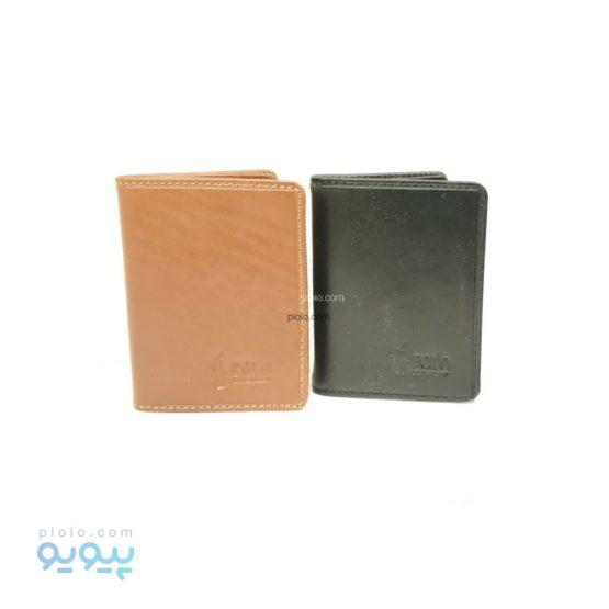 کیف کارت بانکی کتابی چرم گاوی POLO