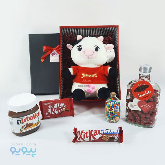 باکس کادو ولنتاین با عروسک گاو