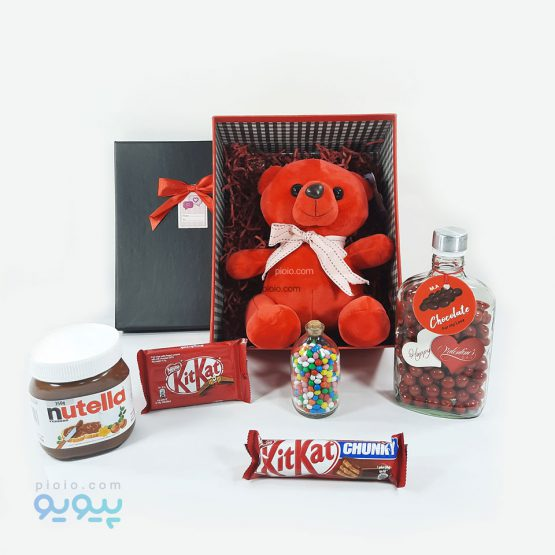 پکیج کادوی ولنتاین با عروسک خرس
