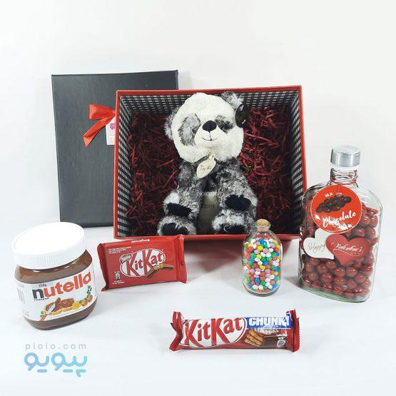 جعبه هدیه ولنتاین با عروسک پاندا