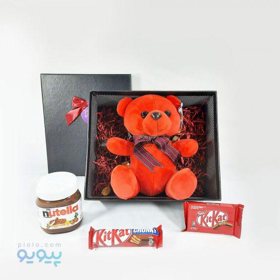 کادو ولنتاین با عروسک خرس پاپیون دار