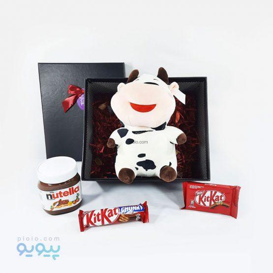 هدیه ولنتاین با عروسک گاو خندان