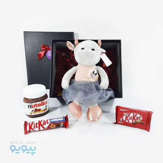 هدیه ولنتاین با عروسک گاو دامن توری