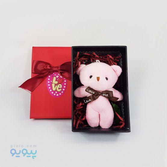 باکس هدیه ولنتاین با عروسک خرس