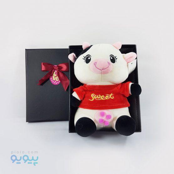 پکیج هدیه ولنتاین با عروسک گاو