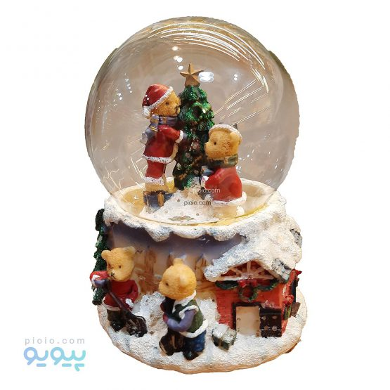 گوی شیشه ای مدل کریسمس