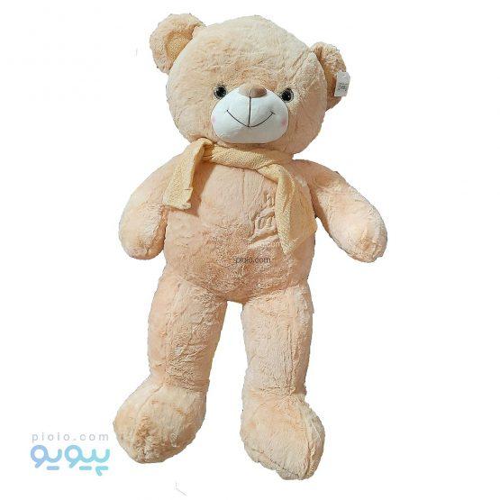عروسک خرس شالگردن دار لپ گلی