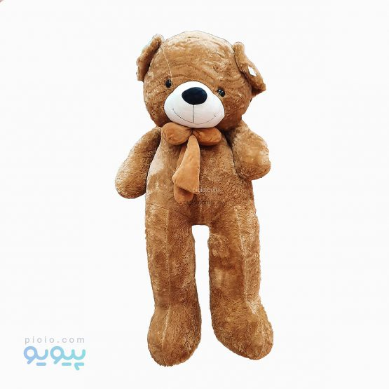 عروسک خرس پاپیون قهوه ای